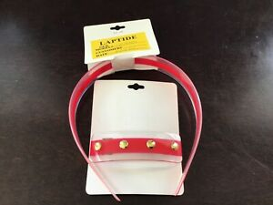 "Scunci Sample 1"" wide Plastic Headband with Studs, matching Barrette 2pcs Set,"