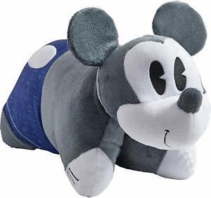 "Pillow Pets Disney, Denim Mickey,  16"" Stuffed Animal Plush NEW"