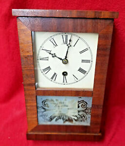 Dated 1851 S.B. Terry & Co. Shelf Clock With 6 Gear Vertical 'Ladder' Movement