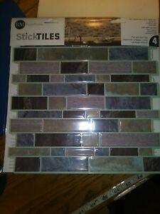 "Marble Sticktiles Peel & Stick Backsplash Tiles 10.5""x10.5"" RoomMates Sticktiles"