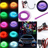 1/2/3/5M Neon LED Light Glow EL Wire String Strip Rope Tube Car Dance Party 12V