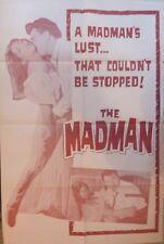 The madman poster original,27x41 inches,RARO