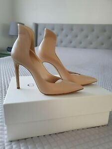 Casadei nude leather pumps heel size 37 worn once RRP $800.00