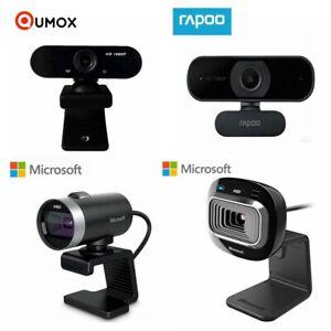 Webcam 1080P Microsoft Rapoo HD Video 3MP 720PCamera Skype Laptop PC Built-inMic