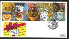 1990 - Greetings Stamps FDC - Clowne,Chesterfield Pmk