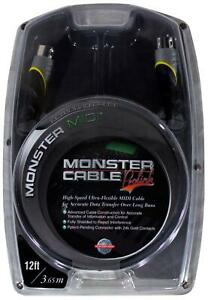 New MONSTER ProLink MIDI CABLE High Speed Keyboard Cord 12 Feet Fully Shielded