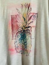Women's Pineapple Print Cotton T-Shirt - Size XL