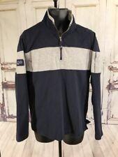 Vintage  Nautica Half Zip Pull Over Color Block Sweater Size Large 90s Hip Hop