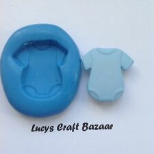 Silicone Mould New Baby Vest Sugarcraft Modelling Fimo Cup Cake Pop Chocolate
