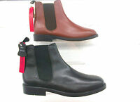MENS LUCINI LEATHER CHELSEA ANKLE PULL ON BOOTS,BLACK BROWN SIZES 6-12 3131/29