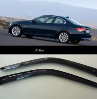 Side Window Visors Sun Guard Vent Deflectors for BMW 3 Coupe E92 2006-2013