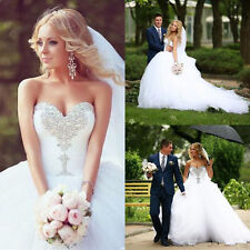 Sexy Princess White/Ivory Sweetheart Wedding Bridal Dress Pageant Gown Custom