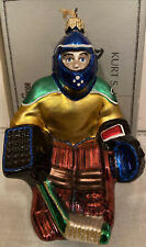 """Polonaise Glass Ornament """"Hockey Player� Made In Poland 6� Tall"""