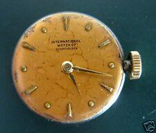 Altes Uhrwerk mit Glas IWC International Watch Damenuhr