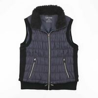 CALVIN KLEIN  Black Classic Polyester Casual Puffer Gilet Womens XL