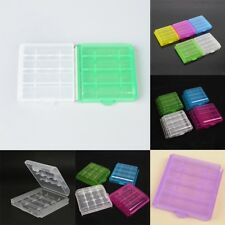 Plastic Portable 4x Translucent Case Holder Storage Box for AA AAA Battery HOT