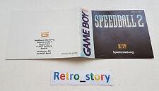 Nintendo Game Boy Speedball 2 Notice / Instruction Manual