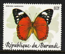 BURUNDI — SCOTT 654D — 1989 SURCHARGED BUTTERFLY — USED — RARE