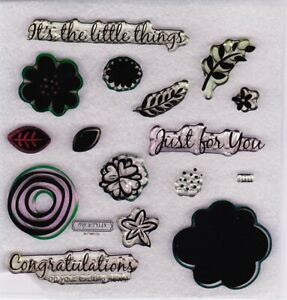 Close To My Heart – CTMH 'It's The Little Things' Acrylic Stamp Set – S1411 used