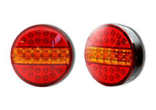2 x 24V LED SLIM HAMBURGER REAR STOP TAIL IND LIGHTS TRAILER TRUCK LORRY TRACTOR