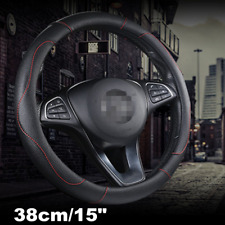 Universal Car Accessories Steering Wheel Cover 15''&38cm PU Leather Protector