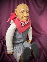 """Vintage Billie Peppers Engineer Doll with Bib Overalls Old Friends 30"""" Doll EUC"""