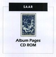 Saar  - Stamp Album 1920-1959 Color Illustrated Album Pages
