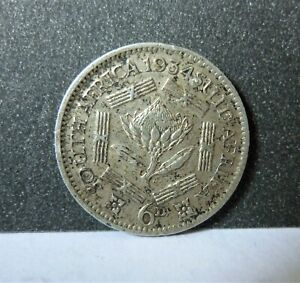 1934 South Africa sixpence coin - b01361
