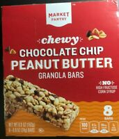 Chocolate Chip Peanut Butter Chewy Granola Bars 8ct - Market Pantry