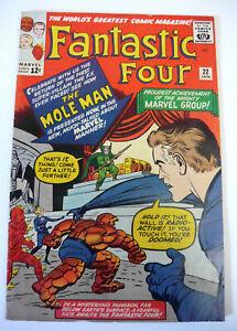 FANTASTIC FOUR #22 Marvel Comic, 1963 2nd Appearance MOLE MAN FN/VF !