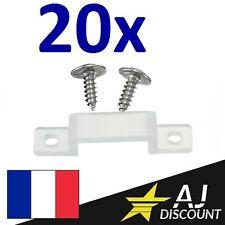 20x Cavalier / Clip de fixation en silicone pour ruban LED 10mm + VIS