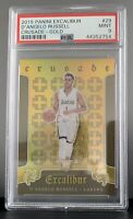 2015-16 Panini Excalibur Crusade Gold D'Angelo Russell /10 RC Rookie PSA 9 POP 3