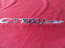 "Alfa Romeo Bertone / GT  Schriftzug "" GT 1600 Junior "" NEU"