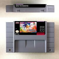 Sonic the Hedgehog Game Card Console US Version For Nintendo SNES 16 Bit Eng