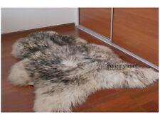 White black sheepskin rug Real,nice soft wool carpet long XL