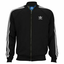 Adidas Originals Mens Superstar Track Jacket Tracksuit Top Zip Black XL (#9830)