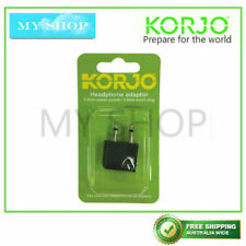 KORJO AIRLINE PLANE FLIGHT EARPHONE HEADPHONE ADAPTOR CONVERTER
