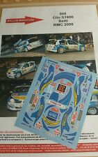 Decals 1/18 réf 905 Renault Clio s1600 Betti  Monte Carlo 2005