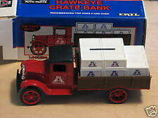 1992 ERTL (BIG A) 1931 HAWKEYE TRUCK CRATE BANK. NIB