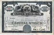 United Drug, Inc. Stock Certificate 100 Shares