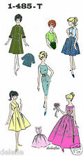 Vintage 1-485-T Doll Pattern fits Barbie Teen Model Wardrobe