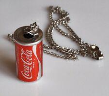 COCA COLA Collier avec Mini Boîte Vintage Coke Can USA ANNÉES 1970 chaîne