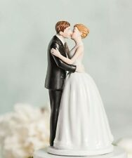 Formal Kissing Couple Romantic First Kiss Wedding Cake Topper - New Design!