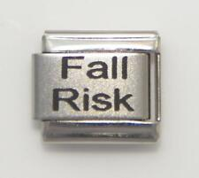 Fall Risk Medical Alert for Italian Charm Bracelets Medical Wallet Card