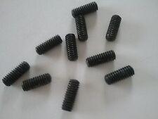 """4 X 3/8"""" BA Tornillo Sin Cabeza Hexagonal Cabeza Ovalada Allen Socket Set Point Qty 10"""