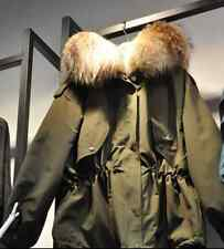 Winter Womens Down Cotton Parka Short Fur Collar Hooded Coat Quilted Jacket Z196