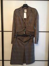 S. Oliver S.oliver Anzug Jacket Rock Jacke Gürtel braun kariert Größe 34 NEU