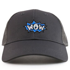 Youth Kid's Wow Patch Youth 6 Panel Trucker Baseball Cap - FREE SHIPPING