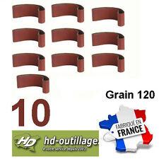 10 bandes toilées 100x914mm  grain 120  bois/métal  (Made CE)