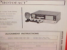 1967 LAFAYETTE CB RADIO SERVICE SHOP MANUAL MODEL COMSTAT 23 (99-3054WX)